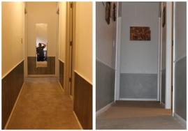wallpaper and creepy mirror: gone, grey dual-tones: in