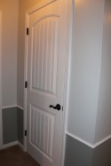 the main bedroom level includes an oversized linen closet